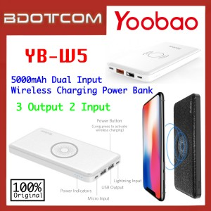 Original Yoobao YB-W5 Dual Input Wireless Charging 5000mAh Power Bank