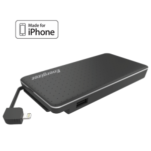Energizer XP10002A Dual USB Port Power Bank with Lightning Cable