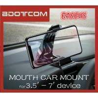 Baseus Mouth Car Mount 360' Degree Rotation Phone Holder for iPhone/Huawei/Samsung / Oppo / Vivo / Xiaomi / Nokia / Sony / LG / HTC / Motorola / Lenovo