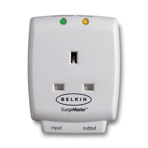Original Belkin Mastercube Home Series 1-Outlet SurgeCube with Tel Protection