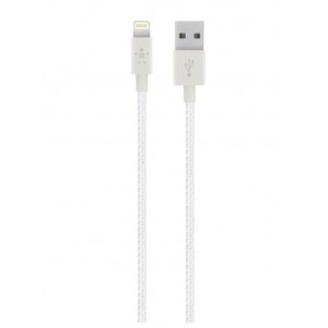 Original Belkin Lightning MIXIT↑™ Metalic Braided 4 FT 2.4A Sync and Charge Cable