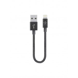 Original Belkin Lightning MIXIT↑™ Metalic Premium 6 Inch 2.4A Sync and Charge Cable