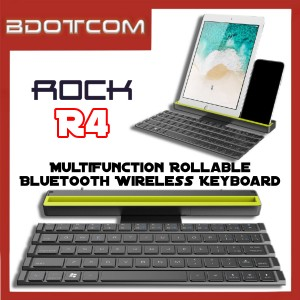 [Ready Stock] Rock R4 MultiFunction Rollable Bluetooth Wireless Keyboard