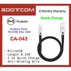 Mcdodo CA-043 Gorgeous Series 0.25M Fast Charge MicroUSB Data Cable
