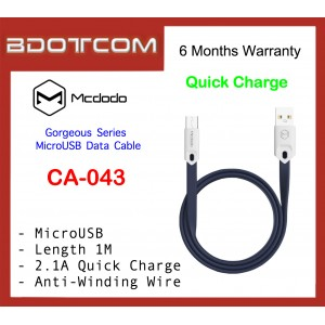 Mcdodo CA-043 Gorgeous Series 1M Fast Charge MicroUSB Data Cable