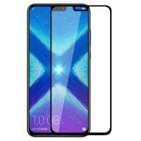Full Covered Tempered Glass Screen Protector for Huawei Honor 8X (Black)