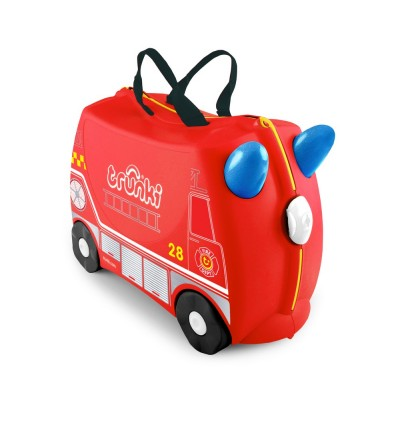 Trunki TR0254-GB01 Kids Ride-On Luggage Suitcase (Fire Engine Frank)