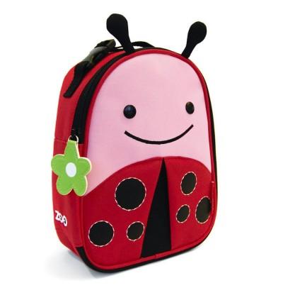 Original Skip Hop Zoo Lunchies Insulated Lunch Bag - Ladybug