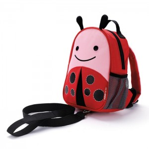 Original Skip Hop Zoo let Mini Backpack With Rein - Ladybug