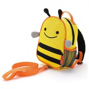 Original Skip Hop Zoo let Mini Backpack With Rein - Bee