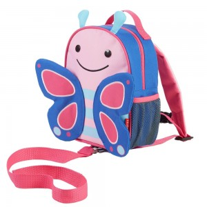 Original Skip Hop Zoo-let Mini Backpack With Rein - Butterfly