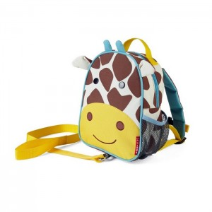Original Skip Hop Zoo-let Mini Backpack With Rein - Giraffe