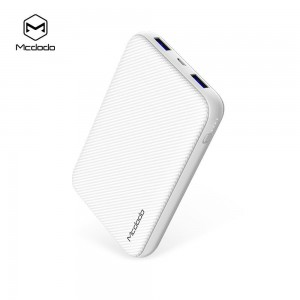 Mcdodo MC-5010 10000mAh Qualcomm Quick Charge 3.0 Power Bank (White)