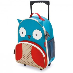 Original Skip Hop Zoo Kid Rolling Luggage - Owl
