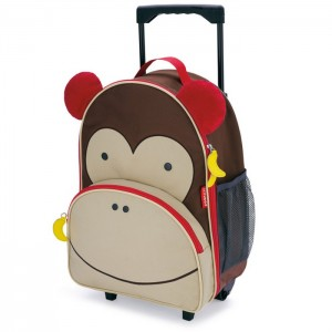 Skip Hop Zoo Kid Rolling Luggage - Monkey