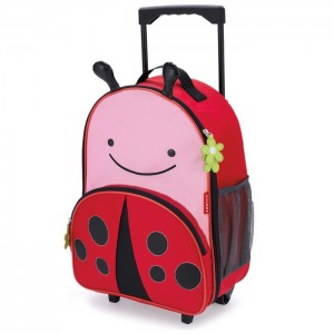 Original Skip Hop Zoo Kid Rolling Luggage - Ladybug