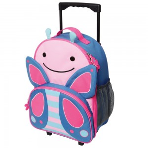 Original Skip Hop Zoo Kid Rolling Luggage - Butterfly