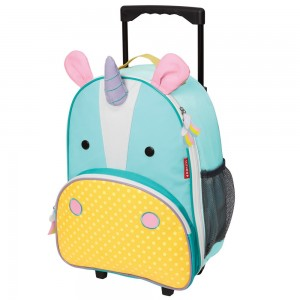 Original Skip Hop Zoo Kid Rolling Luggage - Unicorn