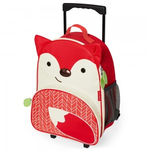 Original Skip Hop Zoo Kids Rolling Luggage - Fox