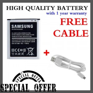 (Special Bundle) High Quality Battery with Free Micro USB Cable for Samsung Galaxy Ace 3