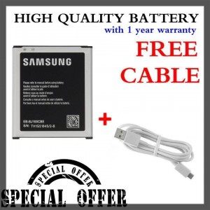(Special Bundle) High Quality Battery with Free Micro USB Cable for Samsung Galaxy J1 2015