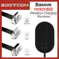 Baseus Microfiber Wireless Charging Receiver for Lightning / MicroUSB / Type-C