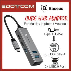 Baseus Cube Hub series Type-C to 3 USB3.0 Port + 2 USB2.0 Port Hub Adaptor