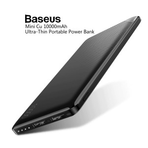 Baseus Mini Cu Series  2 USB Ports 10000mAh Ultra Thin Portable Power Bank