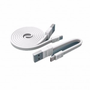 Original Remax RC-062m Tengy Series 160mm +1000mm MicroUSB Data Cable (White)