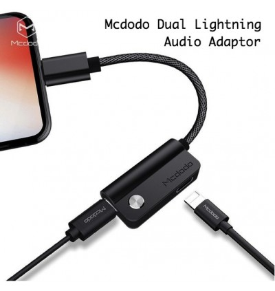 Mcdodo CA-347 2in1 Charging +Play Music iP to DC3.5mm Audio Adapter