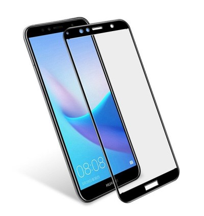 Full Covered Tempered Glass Screen Protector for Huawei Honor 7A (Black)