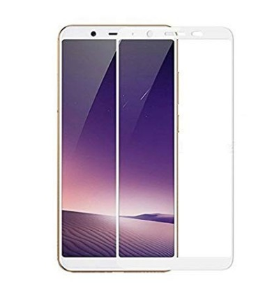 Full Covered Curved Tempered Glass Screen Protector for Vivo Y71 (White)