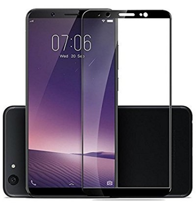 Full Covered Tempered Glass Screen Protector for Vivo V7 Plus (Black)