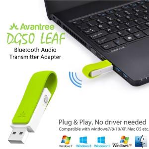 Avantree DG50 Leaf Long Range USB Bluetooth Audio Transmitter Adapter