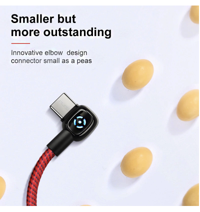 Mcdodo CA-593 1M 90' Smart LED Elbow Auto Disconnect MicroUSB Smart Charge Cable