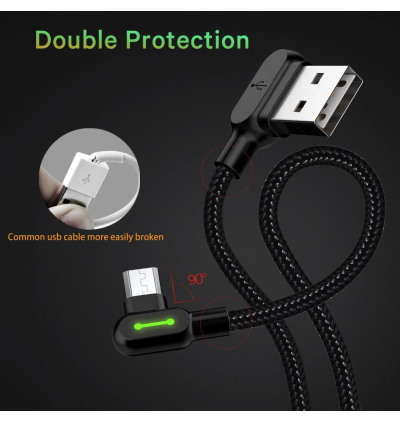 Mcdodo CA-577 90' LED Light 1.2m MicroUSB Gaming Data Cable
