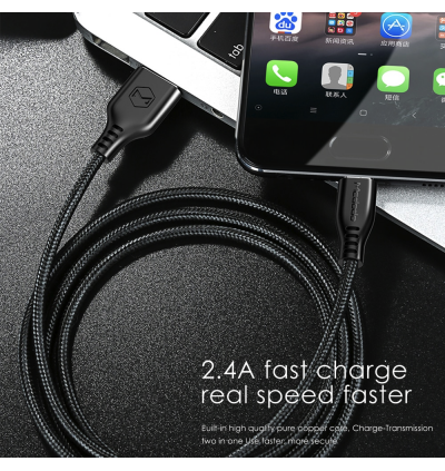 Mcdodo CA-516 Warrior Series 1M 2.4A Fast Charging MicroUSB Data Cable