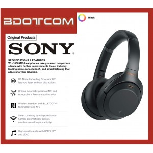 Original Sony WH-1000XM3 Wireless Bluetooth Noise Cancelling Headphones