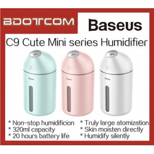 Baseus C9 Cute Mini series Humidifier 320ml Large Capacity Air Purifier for Car / Indoor Used