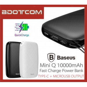 Baseus Mini Q 10000mAh Type-C + MicroUSB Port Fast Charge Power Bank