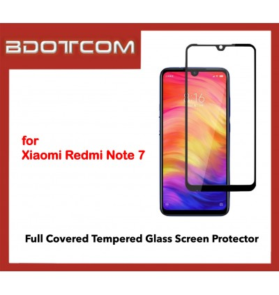 Full Covered Tempered Glass Screen Protector for Xiaomi Redmi Note 7 (Black)