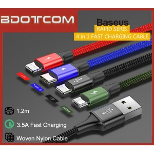 Baseus Rapid series 4 in 1 3.5A Type-C + MicroUSB + Dual Lightning Fast Charge Cable