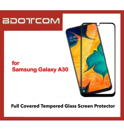 Full Covered Tempered Glass Screen Protector for Samsung Galaxy A30 (Black)