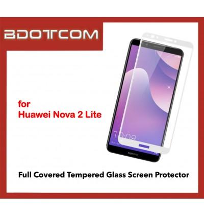 Full Covered Tempered Glass Screen Protector for Huawei Nova 2 Lite (White)