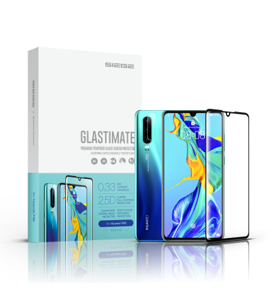 Huawei P30 Siege Glastimate 2.5D Full Covered Premium Tempered Glass