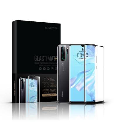 Huawei P30 Pro Siege Glastimate Plus 3D Full Covered Premium Tempered Glass