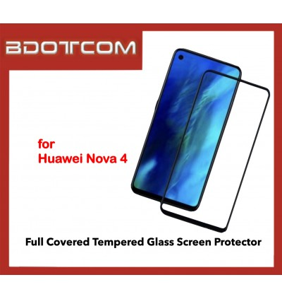 Full Covered Tempered Glass Screen Protector for Huawei Nova 4 (Black)