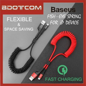 Baseus Fish-Eye Spring Lightning Data Cable