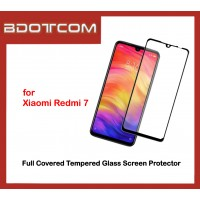 Full Covered Tempered Glass Screen Protector for Xiaomi Redmi 7 (Black)
