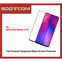 Full Covered Tempered Glass Screen Protector for Samsung Galaxy A10 (Black)